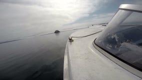 Motor del barco externo almacen de video