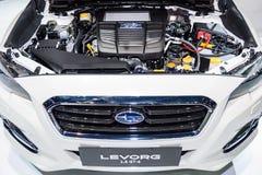 Motor del BOXEADOR DIT de Subaru de Subaru LEVORG 1 6 GT-S Foto de archivo libre de regalías