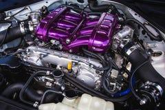 Motor del coche deportivo Fotografía de archivo libre de regalías