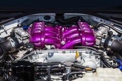 Motor del coche deportivo Imagen de archivo