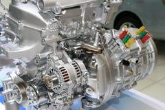 Motor del híbrido del automóvil Imágenes de archivo libres de regalías