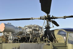 Motor del helicóptero Imagen de archivo libre de regalías