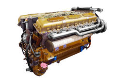Motor del tanque pesado Imágenes de archivo libres de regalías
