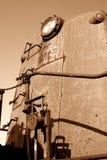 Motor del tren de la vendimia Imagenes de archivo