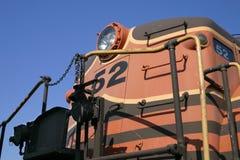 Motor del tren de la vendimia Imágenes de archivo libres de regalías
