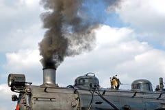 Motor del tren del vapor Fotos de archivo