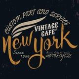 Motor del vintage de Nueva York tipográfico para el diseño de la camiseta, graphi de la camiseta Fotografía de archivo