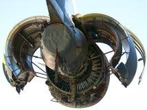 Motor der Militärflugzeug-C-17 Lizenzfreies Stockfoto