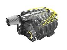 Motor der Superladung 3D Lizenzfreie Stockfotos