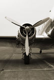 Motor der Weinlese-DC3 Stockbild