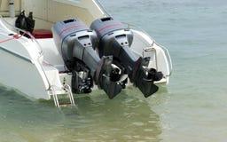 Motor des Bootes stockbilder