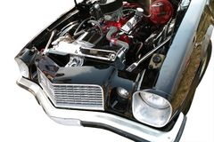 Motor des Sportwagens 70. Lizenzfreie Stockfotos