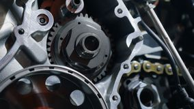 Motor in detail stock footage