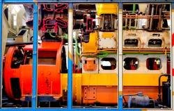 Motor diesel cortar-por Foto de archivo libre de regalías