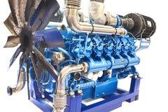Motor diesel de 12 cilindros Imágenes de archivo libres de regalías