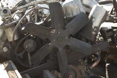 Motor diesel de la combustión interna, de la reparación de coches y de la maquinaria agrícola Foto de archivo