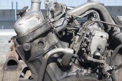 Motor diesel de la combustión interna, de la reparación de coches y de la maquinaria agrícola Fotos de archivo libres de regalías