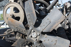 Motor diesel de la combustión interna, de la reparación de coches y de la maquinaria agrícola Imagen de archivo libre de regalías