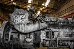 Motor diesel del tren Imágenes de archivo libres de regalías