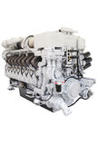 Motor diesel del tren Imagenes de archivo