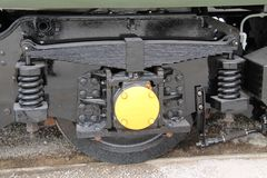 Motor diesel del tren Imagen de archivo libre de regalías