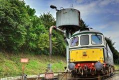 Motor diesel del tren Fotografía de archivo