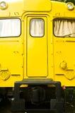 Motor diesel del tren amarillo Imágenes de archivo libres de regalías