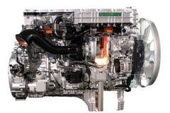 Motor diesel do caminhão fotos de stock