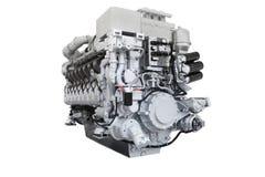Motor diesel do trem Fotografia de Stock