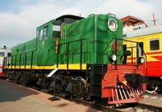 Motor diesel - la locomotora Fotografía de archivo libre de regalías