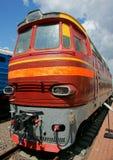 Motor diesel - la locomotora Imagenes de archivo