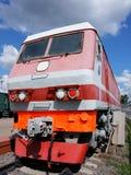 Motor diesel - la locomotora Imagen de archivo libre de regalías