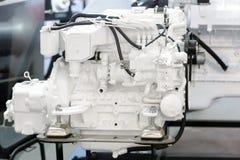 Motor diesel moderno usado na indústria marinha Fotos de Stock