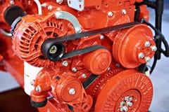Motor diesel vermelho para o caminhão imagens de stock