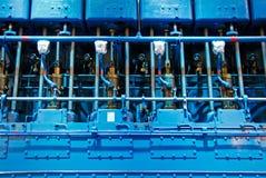 Motor diesel y pistón de la nave foto de archivo