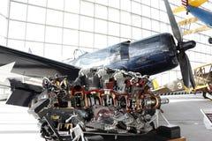Motor do avião do lutador da hélice Imagens de Stock Royalty Free