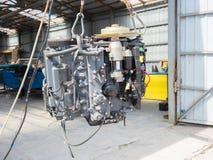 Motor do barco imagem de stock