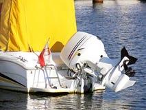 Motor do barco de motor Imagens de Stock Royalty Free