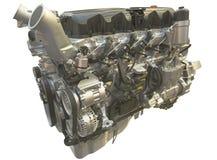 Motor do caminhão, isolado sobre o branco Fotografia de Stock Royalty Free