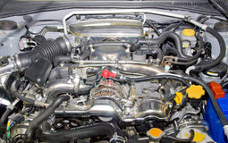 Motor do carro desportivo Fotos de Stock Royalty Free
