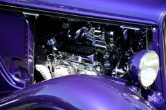 Motor do cromo do vintage Imagens de Stock Royalty Free