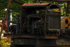 Motor do guindaste da pilha velho fotografia de stock royalty free