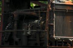 Motor do guindaste da pilha velho fotos de stock royalty free