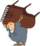 Motor do piano ilustração stock