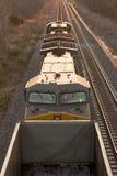 Motor do trem de Acima-Vertical fotos de stock royalty free