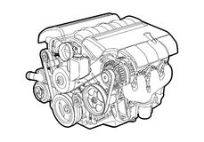 Motor do vetor fotografia de stock