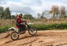 Motor-dwars Raceauto Stock Foto's