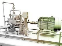 Motor e gerador de potência industriais Fotografia de Stock Royalty Free