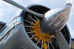 Motor e hélice do avião Foto de Stock