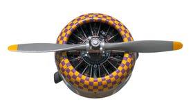 Motor e hélice do Texan da verificação AT-6 do roxo e do amarelo fotos de stock royalty free